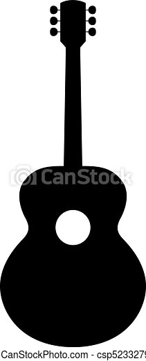 classical guitar silhouette vector illustration of hand drawn rh canstockphoto com guitar man silhouette vector guitar player silhouette vector