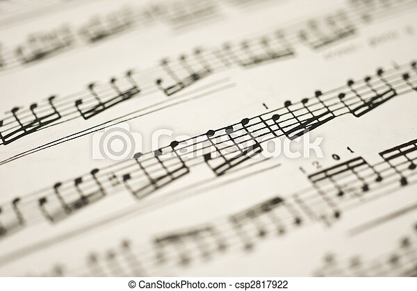 Classical music - notes on vintage sheet
