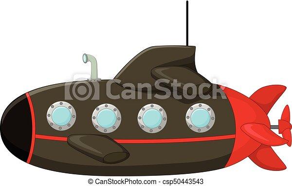 classical submarine cartoon - csp50443543