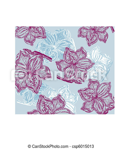Classical wall-paper with a flower  - csp6015013