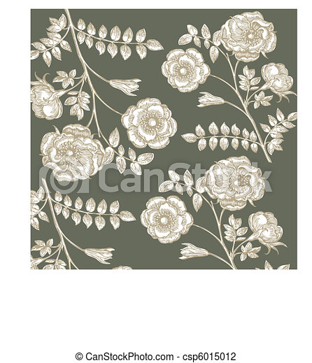 Classical wall-paper with a flower  - csp6015012