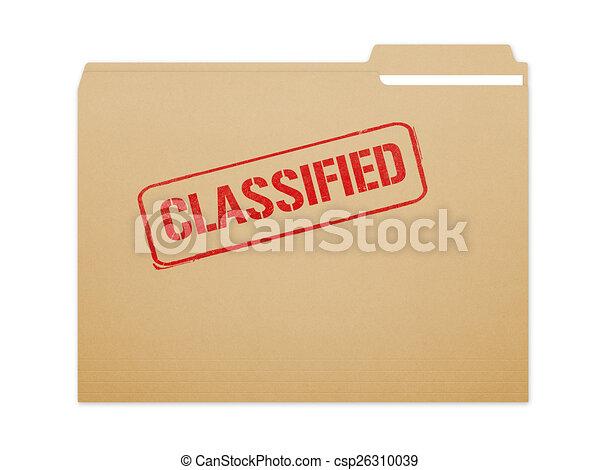 Classified Folder - csp26310039