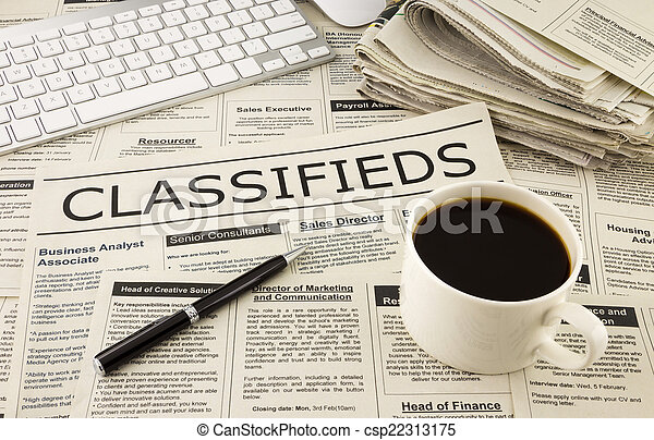 classifieds ads on newspaper - csp22313175