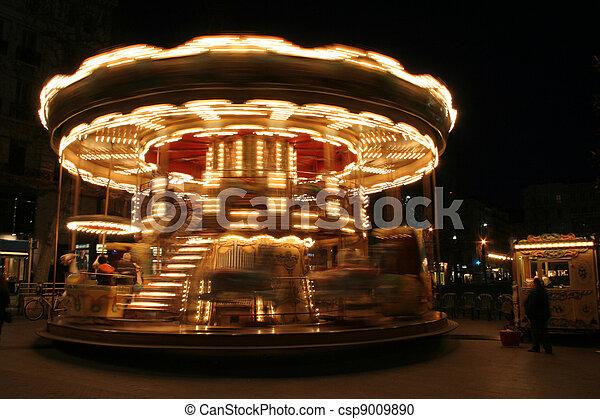 classique, francais, carrousel - csp9009890
