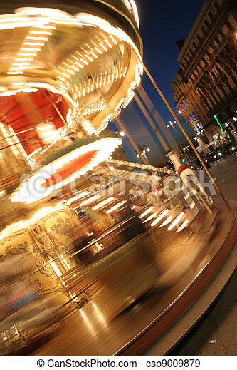 classique, francais, carrousel - csp9009879