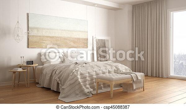 Classique, moderne, scandinave, chambre à coucher,... images ...