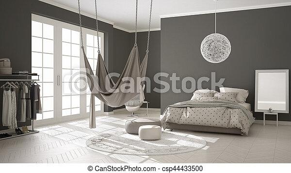 Classique Scandinave Hamac Chambre à Coucher Minimalistic