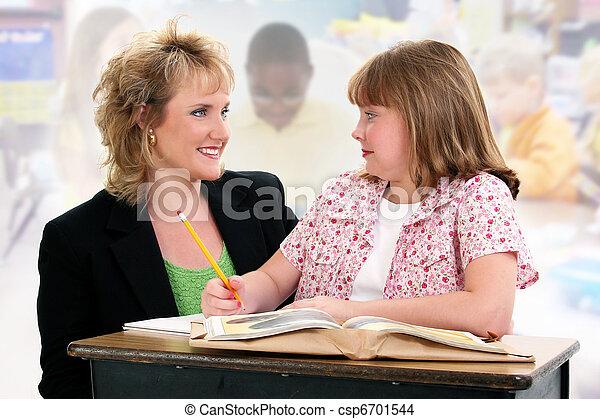 classroom., lehrer, schueler, buero - csp6701544