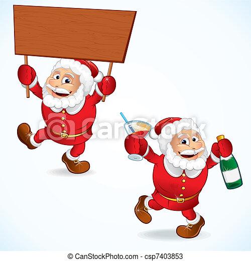 Cartoon Santa Claus - csp7403853