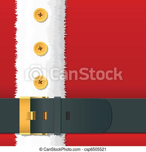 claus, costume, santa, cintura - csp6505521