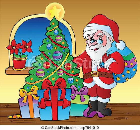 Santa Claus en la escena 5 - csp7941010