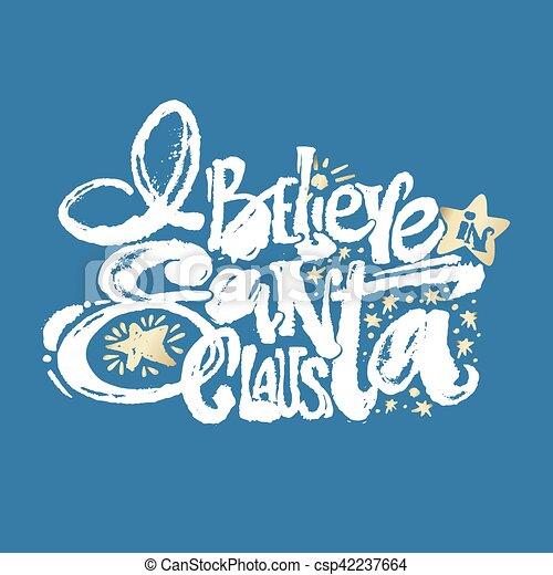 Creo en Santa Claus - csp42237664