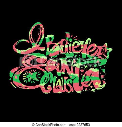 Creo en Santa Claus - csp42237653