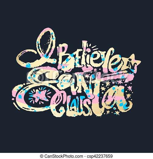 Creo en Santa Claus - csp42237659