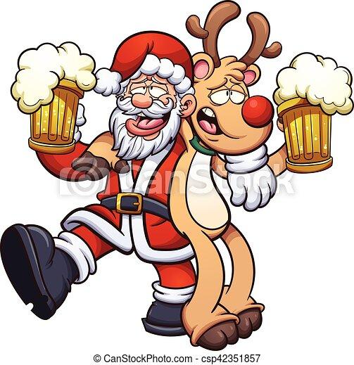 claus, santa, ubriaco - csp42351857