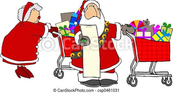 Claus shopping - csp0461031