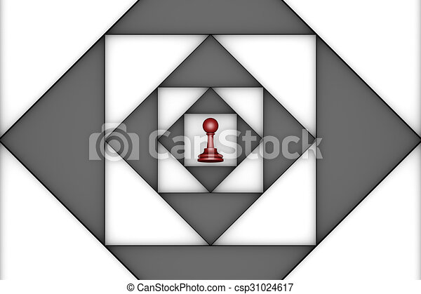 Claustrophobic (chess metaphor) - csp31024617