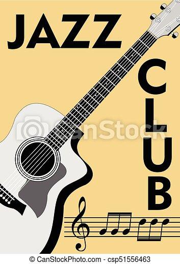 Clave De Sol Viejo Folleto Notación Club Notas Jazz Travesaño Dibujo Guitarra Fondo Papel Retro Monocromo Style Beige