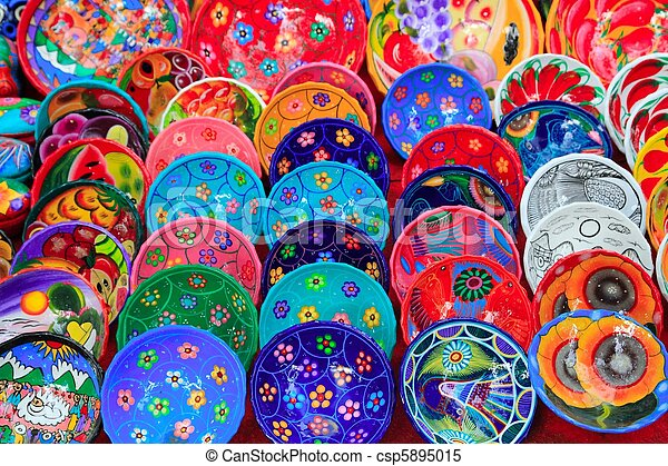 clay ceramic plates from Mexico colorful & Colorful mexican ceramic plates. Colorful painted mexican ceramic ...
