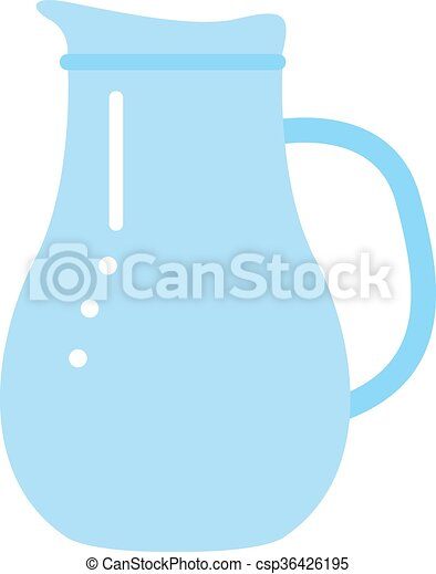 clay jug isolated on white - csp36426195