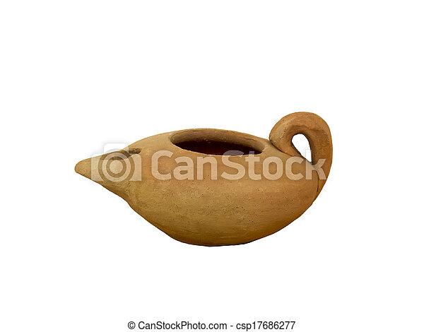 Clay oil lamp - csp17686277