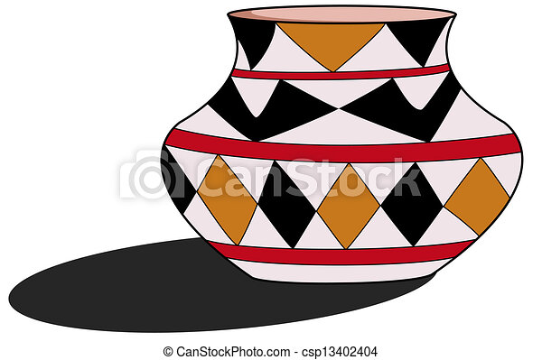 clay pot vector clipart search illustration drawings and eps rh canstockphoto com Ancient Pots Earthen Pot for Cooking