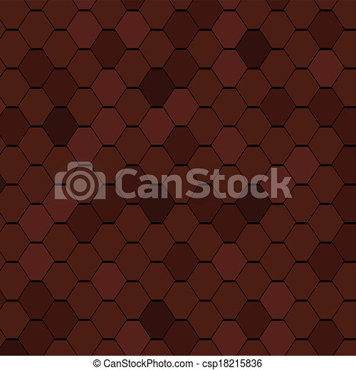 Clay Roof Tiles Seamless Texture. - csp18215836