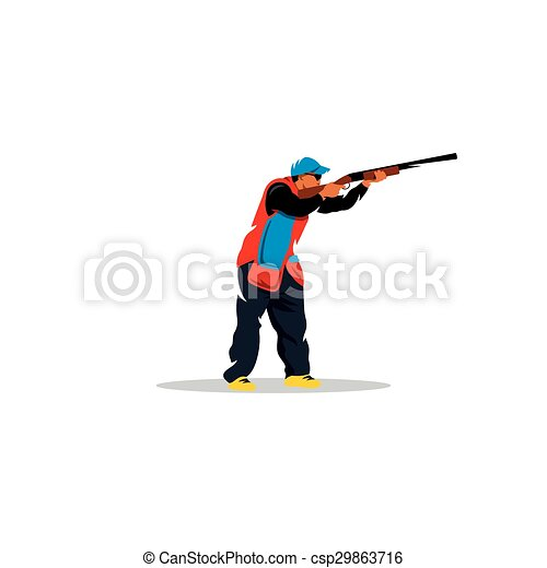 Clay shooting sign. Vector Illustration. - csp29863716