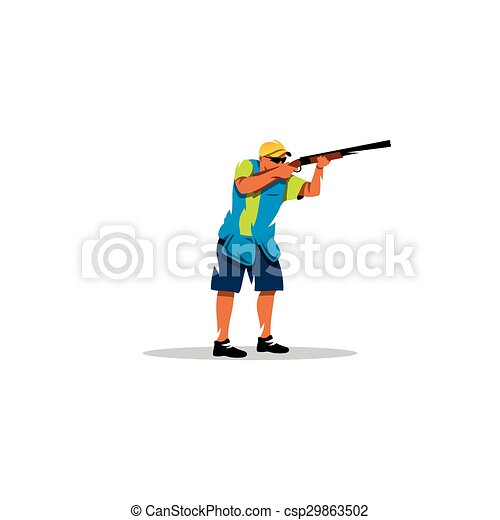 Clay shooting sign. Vector Illustration. - csp29863502