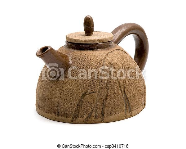 clay tea pot 1 - csp3410718