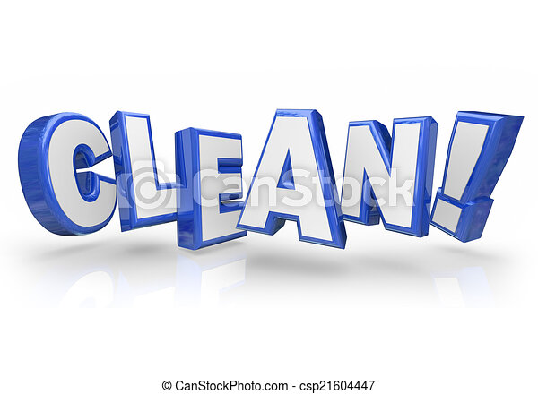 Line Art Letters : Clean d blue word letters safe cleanliness in