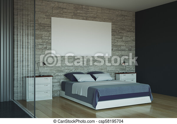 Clean Bedroom With Blank White Banner Clean Bedroom Interior Blank Extraordinary How To Clean Bedroom Walls