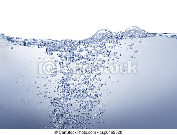 Clean blue water on white - csp8469528