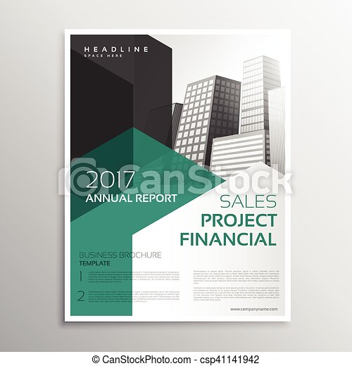 Clean Business Brochure Annual Report Template Eps Vector  Search