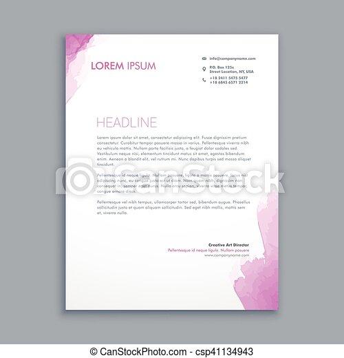 Clean Corporate Letterhead Design Eps Vector  Search Clip Art
