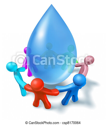 Clean drinking water symbol - csp8170064