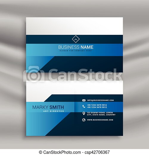 Clean elegant business card template in blue theme clean elegant business card template in blue theme csp42706367 cheaphphosting Image collections
