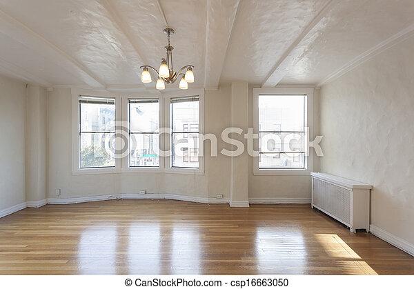 clean empty studio apartment room
