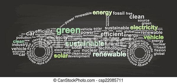 Clean Energy Car - csp22085711