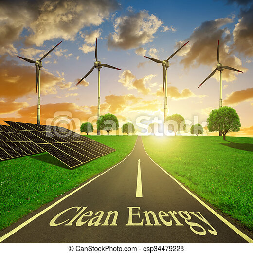 Clean energy concept. - csp34479228