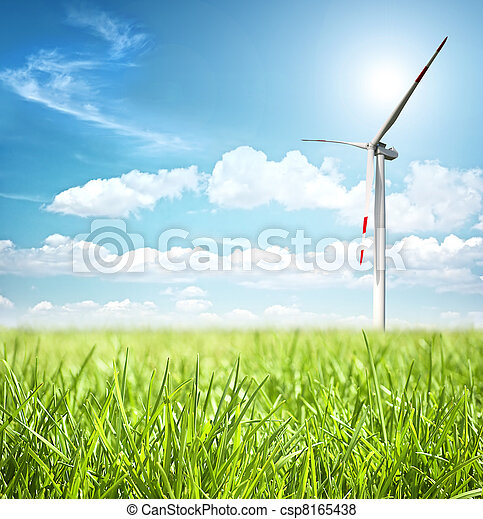 Clean energy concept  - csp8165438