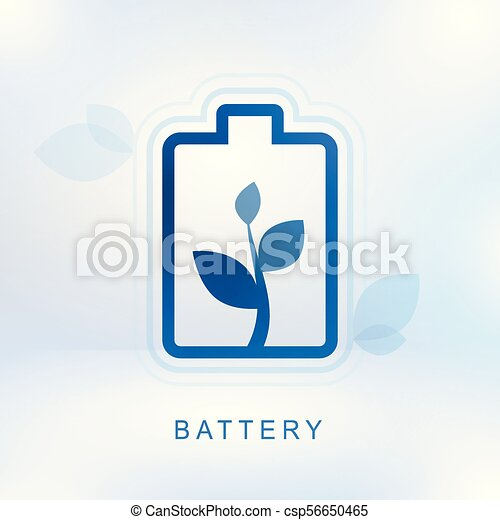 Clean energy concept with battery-2 - csp56650465