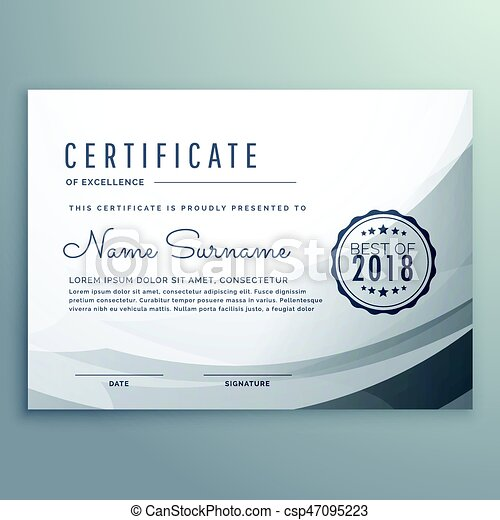 clean gray diploma certificate design template csp47095223 - Certificate Design Template