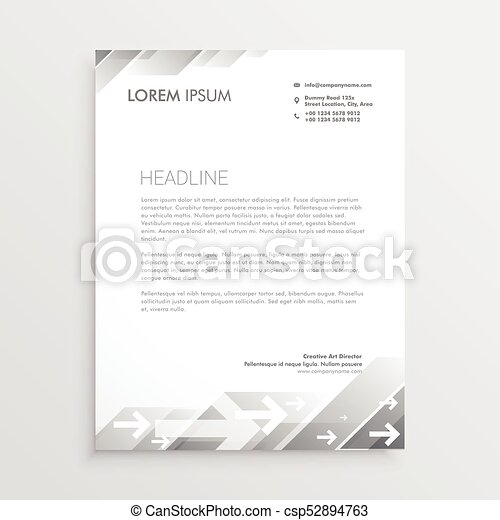Clean gray letterhead design template clip art vector search clean gray letterhead design template csp52894763 spiritdancerdesigns Image collections