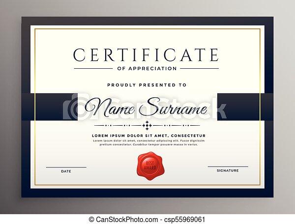 clean modern certificate template design csp55969061 - Modern Certificate Template