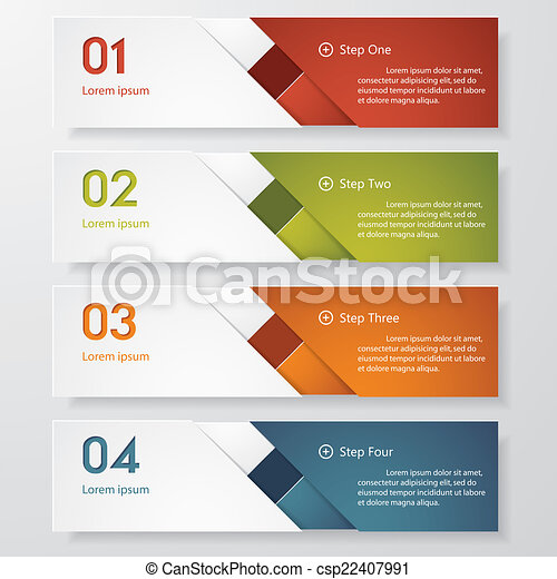 clean number banner. vector. - csp22407991