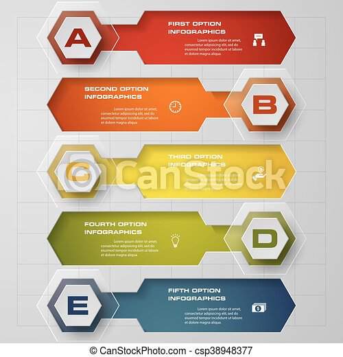 clean number banners template - csp38948377