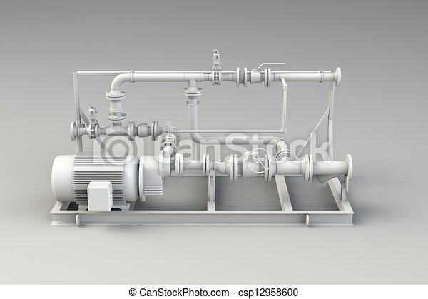 Clean piping isolated on white - csp12958600