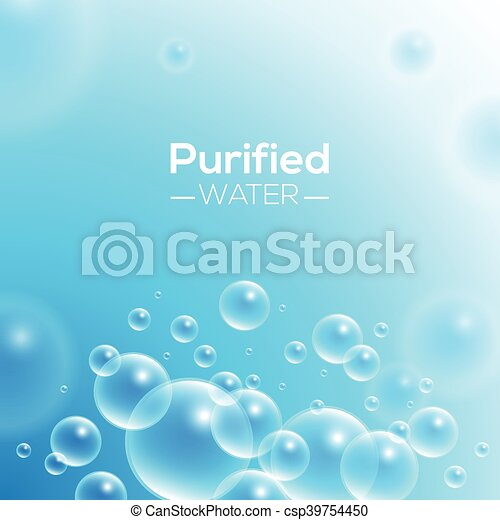 Clean Purified Water Vector Background - csp39754450