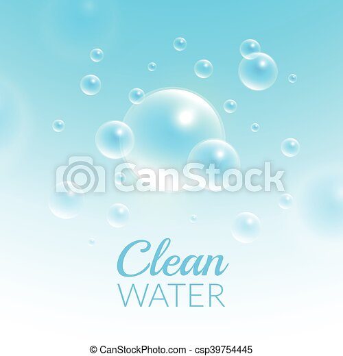 Clean Purified Water Vector Background - csp39754445